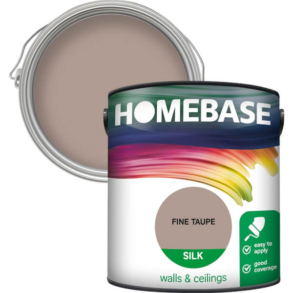 Homebase Silk Paint - Fine Taupe 2.5L
