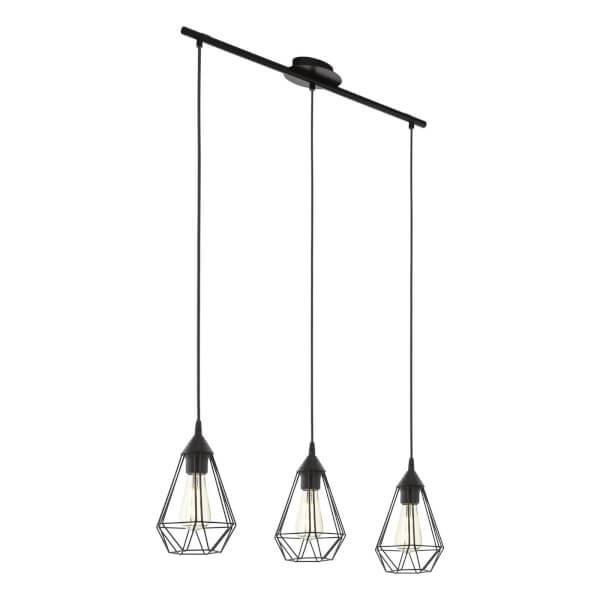 Eglo Tarbes 3 Light Pendant Light - Black