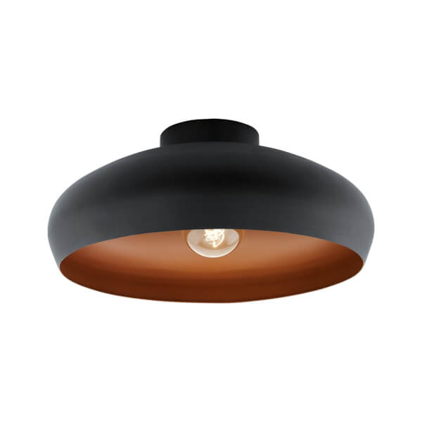Eglo Mogano Flush Light - Black & Copper