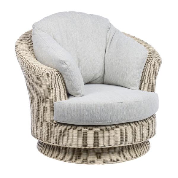 Dijon Lyon Swivel Chair In Pebble