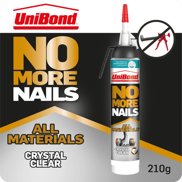 UniBond No More Nails All Materials Crystal Clear - 210g Easy Pulse