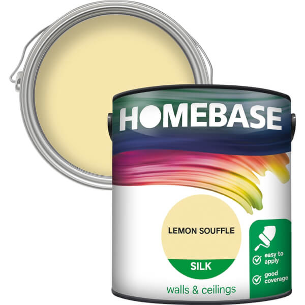 Homebase Silk Paint - Lemon Souffle 2.5L