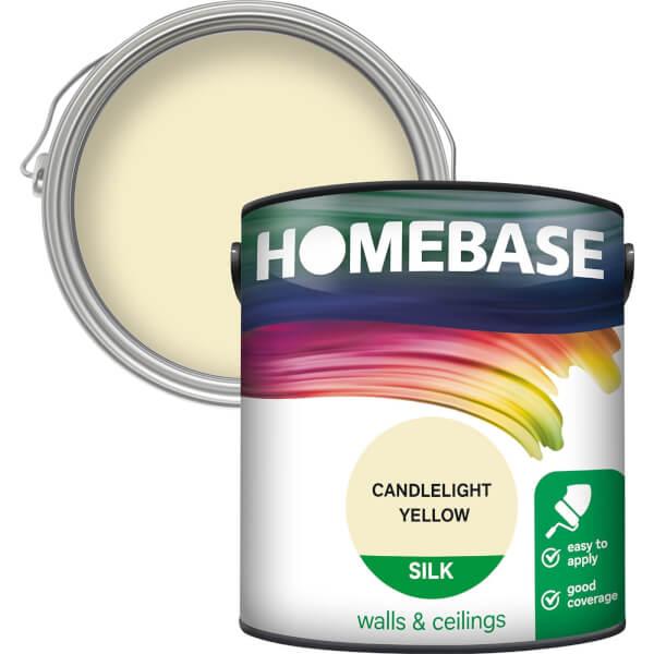 Homebase Silk Paint - Candlelight Yellow 2.5L