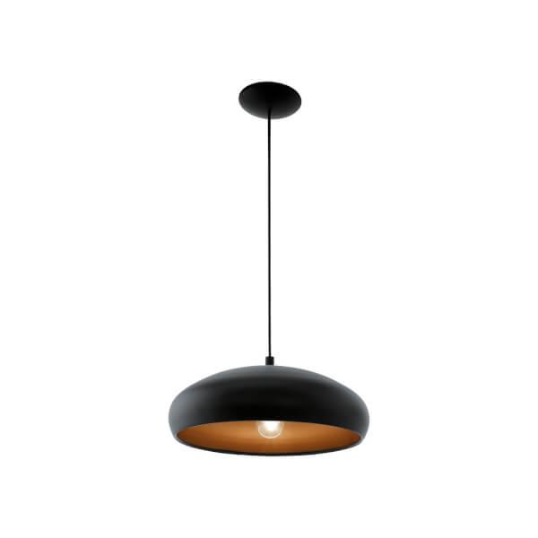 Eglo Mogano 1 Pendant Light - Black & Copper