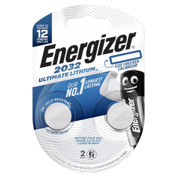 Energizer CR2032 Ultimate Lithium Coin Battery - 2 Pack