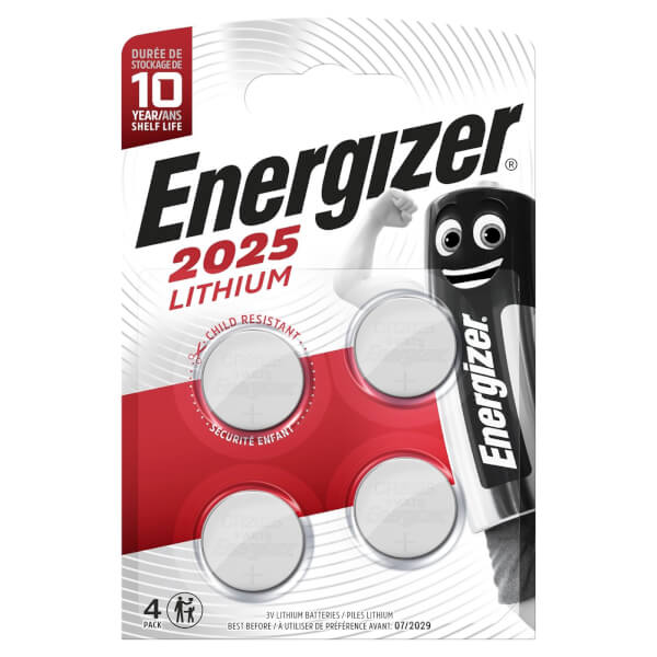 Energizer 2025 Lithium Coin Battery - 4 Pack
