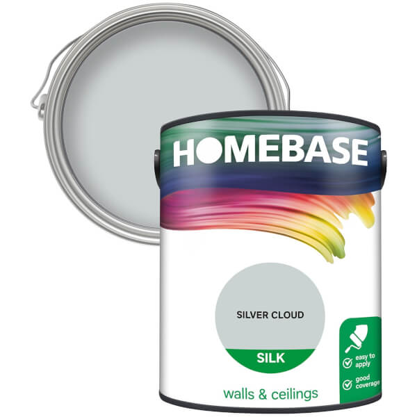 Homebase Silk Paint - Silver Cloud 5L