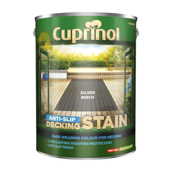 Cuprinol Anti-Slip Decking Stain - Silver Birch - 5L