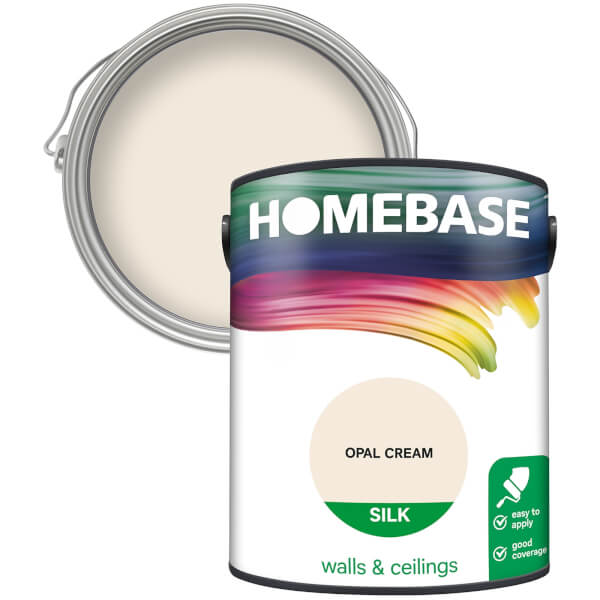 Homebase Silk Paint - Opal Cream 5L
