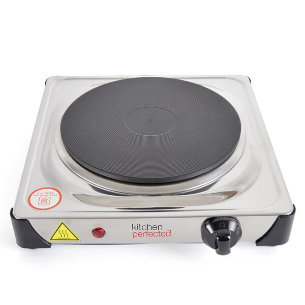 Kitchen Perfected 1500w Single Hotplate SS.