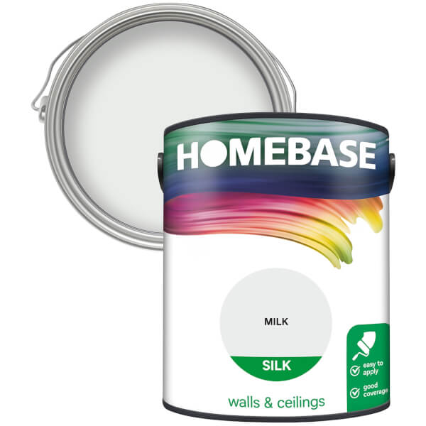 Homebase Silk Paint - Milk 5L