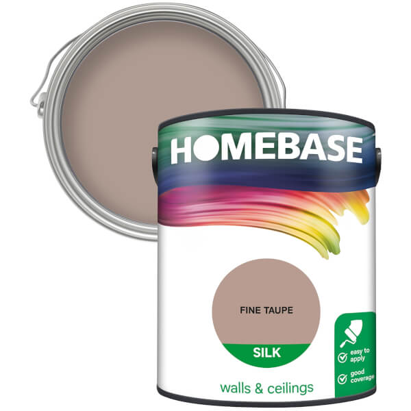 Homebase Silk Paint - Fine Taupe 5L