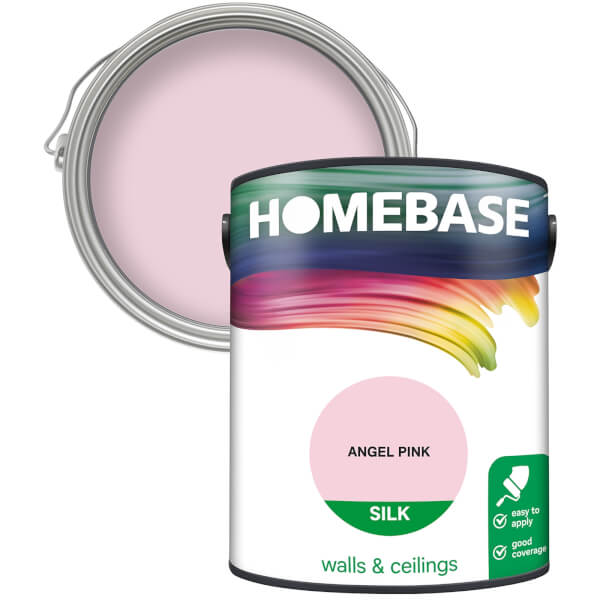 Homebase Silk Paint - Angel Pink 5L