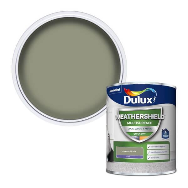 Dulux Weathershield Multi Surface Paint - Green Glade - 750ml