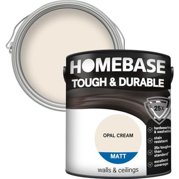 Homebase Tough & Durable Matt Paint - Opal Cream 2.5L