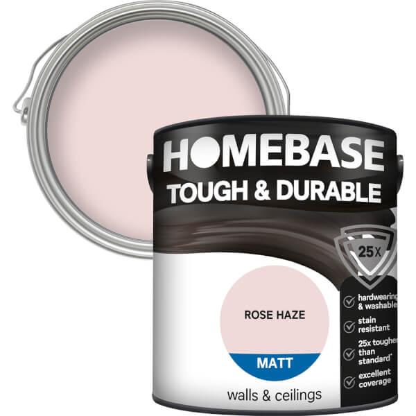 Homebase Tough & Durable Matt Paint - Rose Haze 2.5L