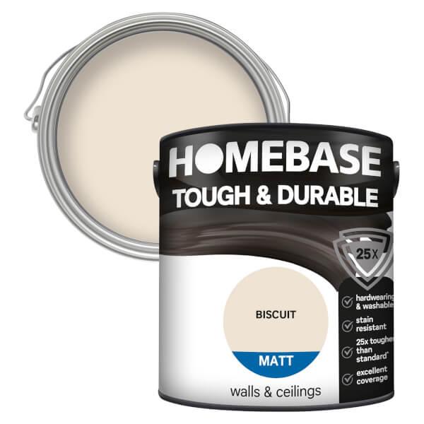 Homebase Tough & Durable Matt Paint - Biscuit 2.5L