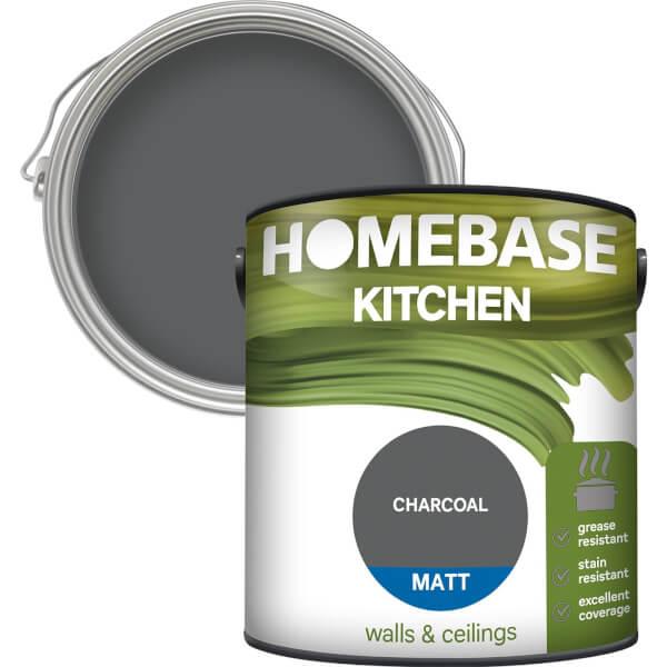 Homebase Kitchen Matt Paint - Charcoal 2.5L