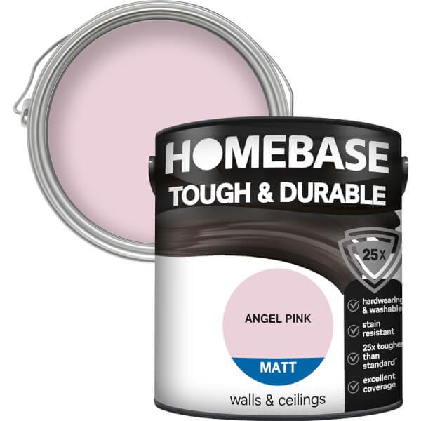 Homebase Tough & Durable Matt Paint - Angel Pink 2.5L