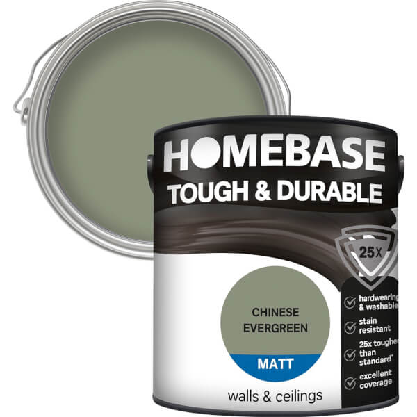Homebase Tough & Durable Matt Paint - Chinese Evergreen 2.5L