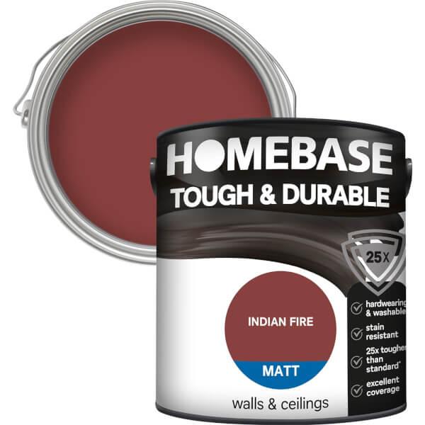 Homebase Tough & Durable Matt Paint - Indian Fire 2.5L