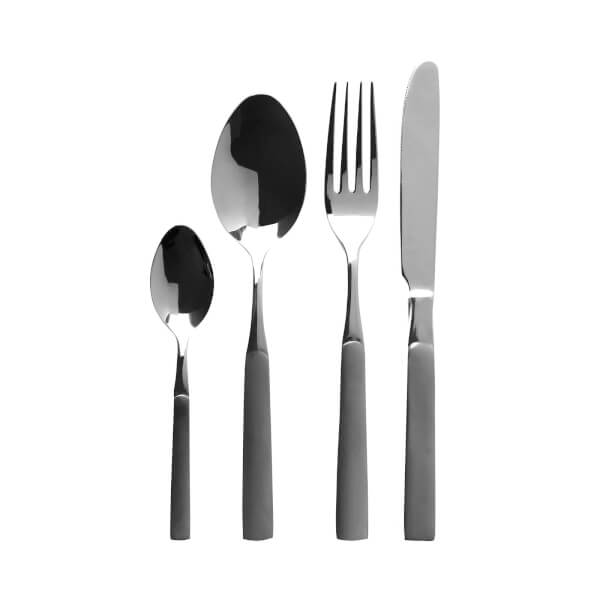 Jewel Cutlery Set - Dark Grey Finish - 16 Pieces