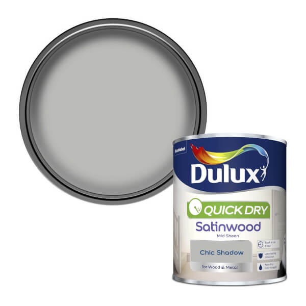 Dulux Quick Dry Satinwood Paint - Chic Shadow - 750ml