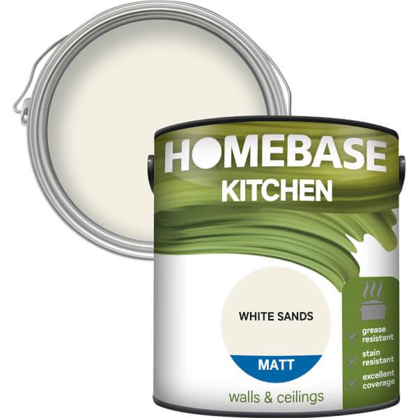 Homebase Kitchen Matt Paint - White Sands 2.5L