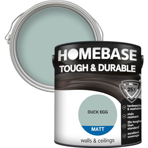 Homebase Tough & Durable Matt Paint - Duck Egg 2.5L