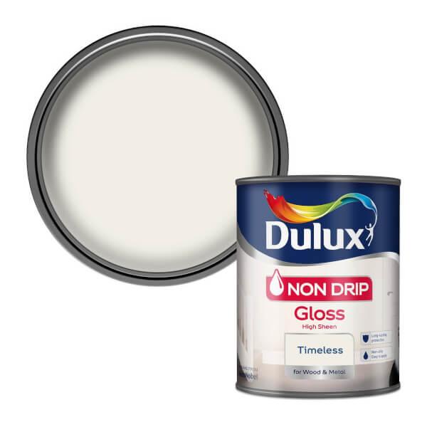 Dulux Non Drip Gloss Paint - Timeless - 750ml