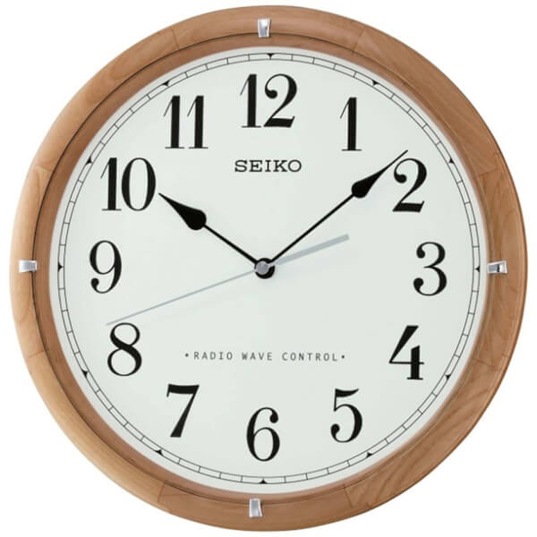Seiko RC Wooden Wall Clock - Light Brown