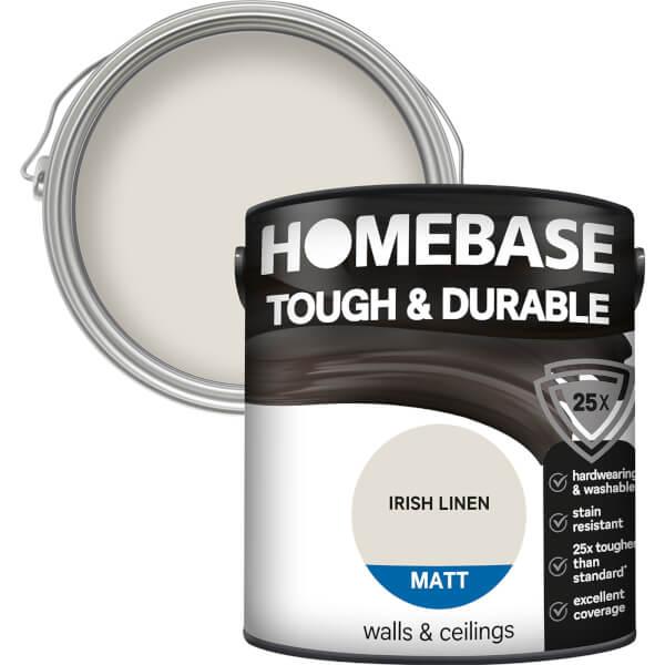 Homebase Tough & Durable Matt Paint - Irish Linen 2.5L