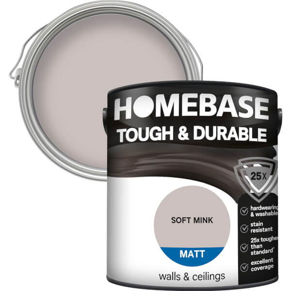 Homebase Tough & Durable Matt Paint - Soft Mink 2.5L