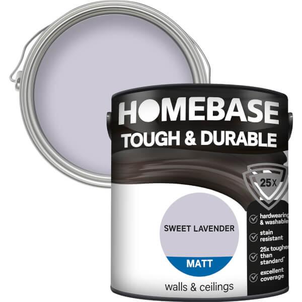 Homebase tough & Durable Matt Paint - Sweet Lavender 2.5L