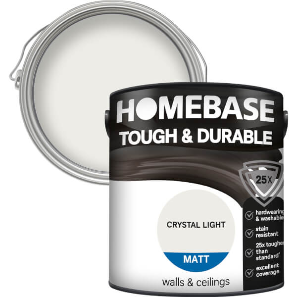Homebase Tough & Durable Matt Paint - Crystal Light 2.5L