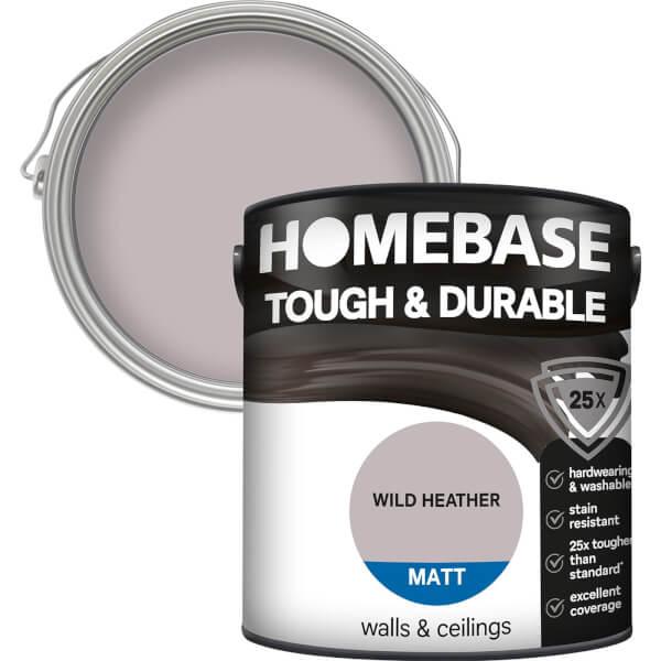 Homebase Tough & Durable Matt Paint - Wild Heather 2.5L