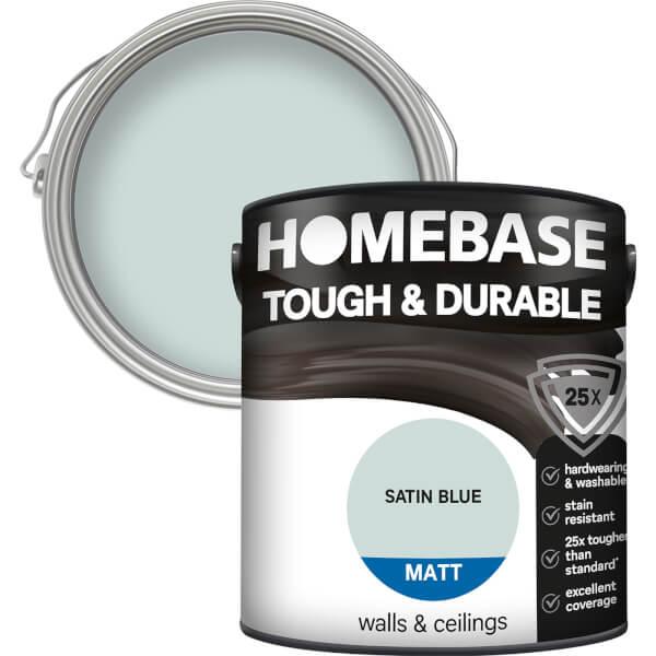 Homebase Tough & Durable Matt Paint - Satin Blue 2.5L