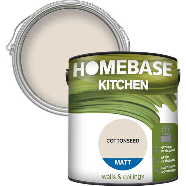 Homebase Kitchen Matt Paint - Cottonseed 2.5L