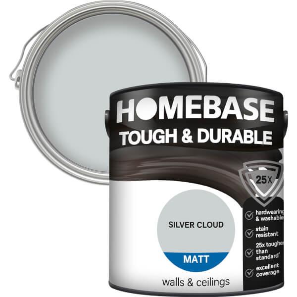 Homebase Tough & Durable Matt Paint - Silver Cloud 2.5L