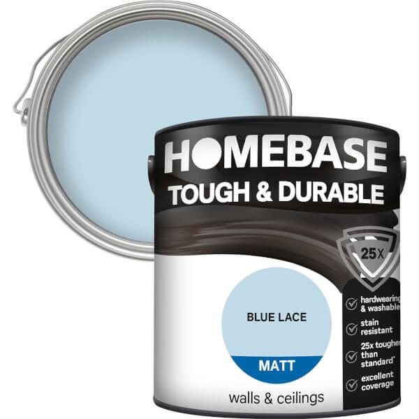 Homebase Tough & Durable Matt Paint - Blue Lace 2.5L
