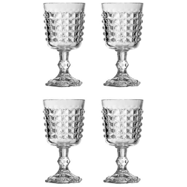 Pyramid Wine Goblets - Set of 4