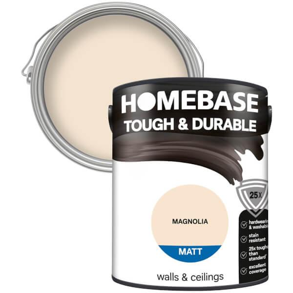 Homebase Tough & Durable Matt Paint - Magnolia 5L