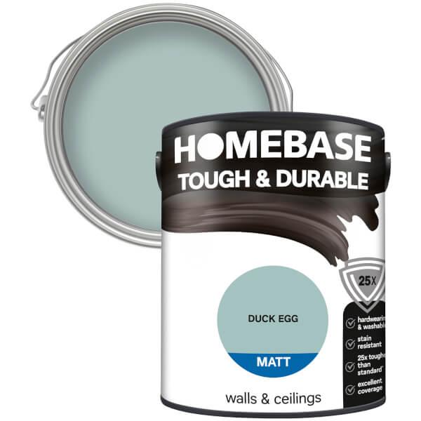 Homebase Tough & Durable Matt Paint - Duck Egg 5L