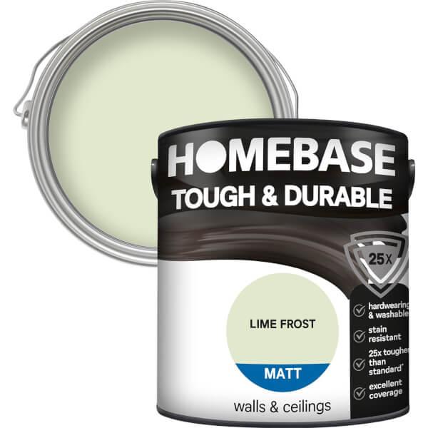 Homebase Tough & Durable Matt Paint - Lime Frost 2.5L