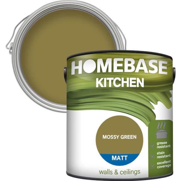Homebase Kitchen Matt Paint - Moss Green 2.5L