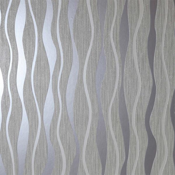 Arthouse Metallic Wave Grey Wallpaper