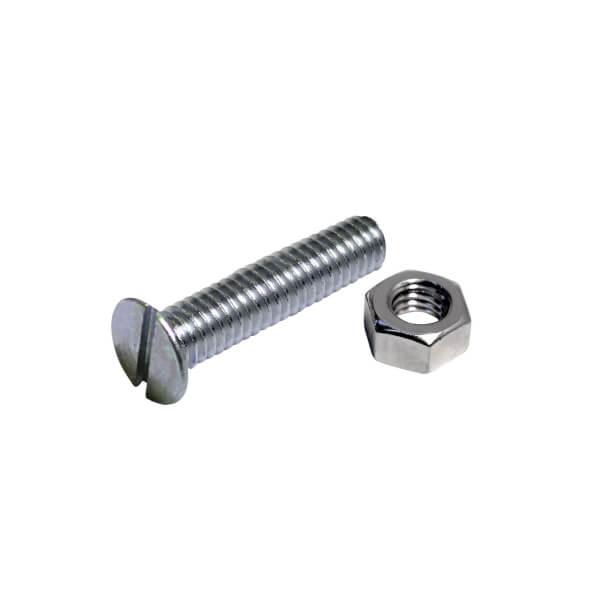 Machine Screw - Countersunk - Bright Zinc Plated - M4 50mm - 5 Pack