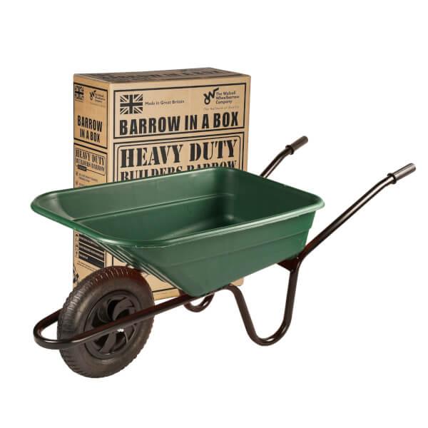 Walsall Wheelbarrows 90 Litre Green Wheelbarrow In A Box