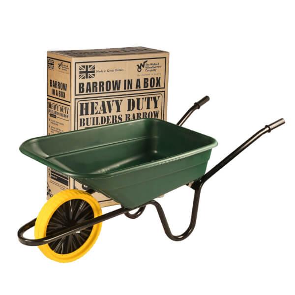 Walsall Wheelbarrows 90 Litre Green Wheelbarrow Punctureproof