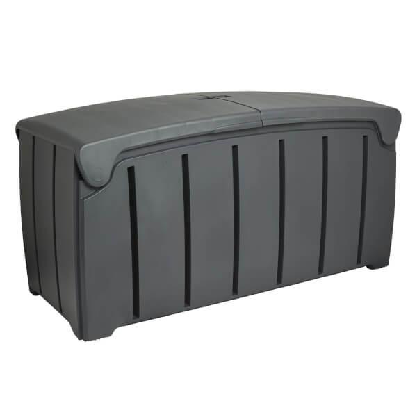 Strata Charcoal Grey Garden Storage Box - 322L